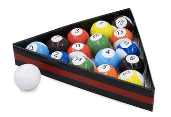 Poolballen met triangel set